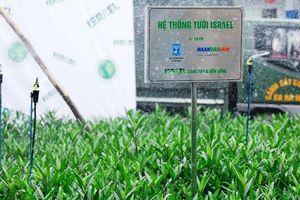 Hà Nội: Khai trương hệ thống tưới nhỏ giọt chạy bằng năng lượng mặt trời