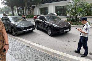 Tạm giữ 2 xe sang Porsche trùng biển số tại Times City