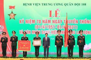 Bệnh viện Quân đội 108 đón nhận danh hiệu Anh hùng Lao động