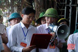 Thị xã Nghi Sơn cưỡng chế thu hồi đất thực hiện Dự án đường Đông Tây 4 đi cảng Nghi Sơn