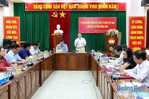Đoàn công tác Ủy ban Trung ương MTTQ Việt Nam làm việc tại Quảng Ngãi