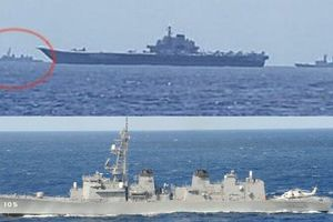 Chiến hạm Nhật Bản áp sát tàu sân bay Trung Quốc
