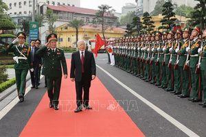 Tổng Bí thư dự lễ đón nhận danh hiệu Anh hùng Lao động của Bệnh viện Trung ương Quân đội 108