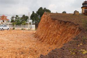 UBND xã vi phạm pháp luật khi tùy tiện phá đồi, khai thác đất