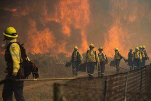 Cháy dữ dội ở Núi Bàn, hàng loạt công trình bị thiêu rụi