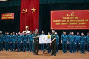 Thanh Hóa: Công bố quyết định thành lập Trung đội Dân quân thường trực