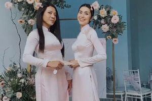 Tăng Thanh Hà diện áo dài nền nã, chiếm trọn 'spotlight' khi làm phù dâu cho bạn thân