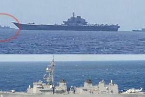 Tàu chiến Nhật Bản bám theo tàu sân bay Trung Quốc