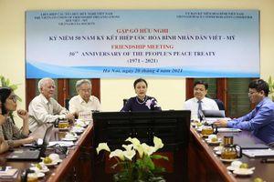 Gặp gỡ hữu nghị nhân 50 năm ký kết Hiệp ước hòa bình nhân dân Việt-Mỹ