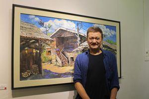 Rực rỡ con người và văn hóa Lào qua triển lãm của họa sỹ Lê Dũng Cường