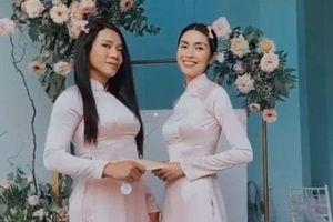 Tăng Thanh Hà diện áo dài truyền thống đi cưới, hình ảnh gợi nhớ đến thời 'Bỗng dưng muốn khóc'