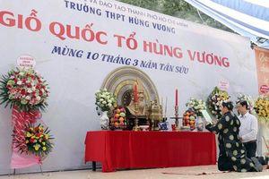Lễ Giỗ Tổ thiêng liêng và xúc động ở ngôi trường mang tên Hùng Vương