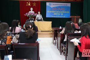 Hội LHPN tỉnh rút kinh nghiệm tổ chức đại hội điểm cấp huyện nhiệm kỳ 2021-2026