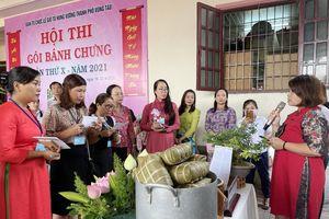Đội UBND phường 9 đạt giải Nhất cuộc thi Gói bánh chưng dâng Lễ Giỗ Tổ Hùng Vương