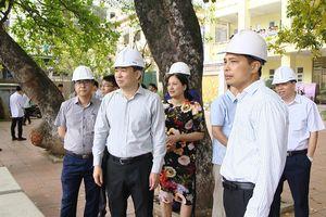 Kiểm tra tiến độ dự án mở rộng Trường THPT Hòn Gai