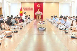 Đoàn công tác của Bộ NN&PTNT làm việc với tỉnh Quảng Ninh