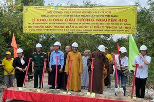 Khởi công xây cầu bê-tông nông thôn tại Thạnh Hóa