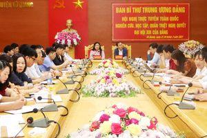 Vũ Quang (Hà Tĩnh) hoàn thành học tập, quán triệt Nghị quyết Đại hội