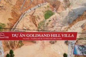 Sạt lở cát từ dự án GoldSand Hill Villa gây ách tắc giao thông