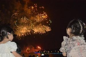 Pháo hoa rực sáng thành phố Việt Trì dịp Giỗ tổ Hùng Vương