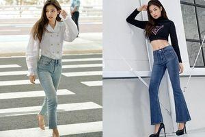 Học lỏm cách diện quần jeans đơn giản mà tôn dáng của hội mỹ nhân Kbiz