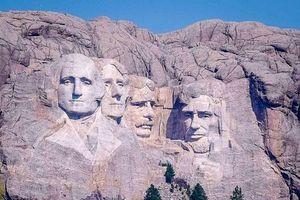 Chân dung 4 tổng thống Mỹ được khắc lên núi đá