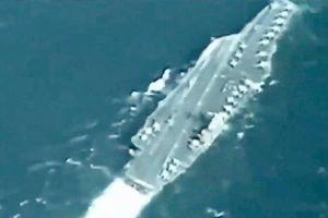 Tàu sân bay Mỹ tại Vịnh Persian bị UAV Iran ghi hình rõ nét