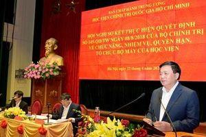 Xác định rõ vị thế, vai trò, chức năng, nhiệm vụ của Học viện Chính trị quốc gia Hồ Chí Minh