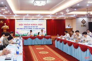 Làm sáng rõ những đóng góp của đồng chí Hà Huy Tập đối với công tác tư tưởng, lý luận của Đảng