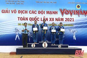 Thanh Hóa xếp thứ ba toàn đoàn tại Giải vô địch các đội mạnh Vovinam toàn quốc năm 2021