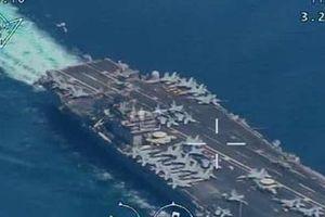 Iran khoe video UAV lượn lờ trên đầu tàu sân bay Mỹ
