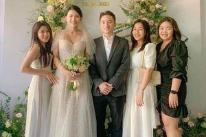 Bà xã Phan Mạnh Quỳnh diện váy cưới đính 3.000 viên đá pha lê trong lễ vu quy tại Nha Trang