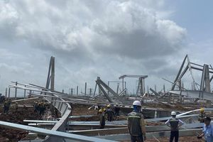 Vụ sập nhà xưởng ở KCN Texhong - Hải Hà: Lỗi thuộc về nhà thầu Zamil Steel?