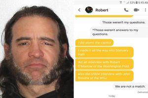Người tấn công điện Capitol bị bắt vì khoe chiến tích trên app hẹn hò