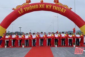 Chính thức thông xe kỹ thuật dự án đường giao thông nối TP Sầm Sơn với Khu kinh tế Nghi Sơn