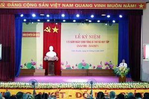 Kỷ niệm 115 năm Ngày sinh Tổng Bí thư Hà Huy Tập