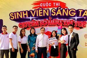 ĐH Duy Tân giành giải Nhì cuộc thi 'Sinh viên Sáng tạo và Quyền Sở hữu Trí tuệ' năm 2021