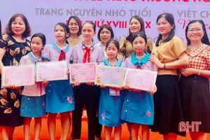 13 học sinh Hà Tĩnh đạt giải 'Trạng nguyên nhỏ tuổi' và 'Nét chữ - nết người'