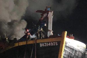 Bà Rịa - Vũng Tàu: Cháy hai tàu cá lớn, thiệt hại hàng tỷ đồng