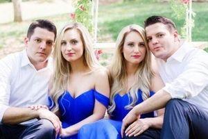 Hai cặp vợ chồng song sinh ở Mỹ sống chung nhà, cùng sinh con