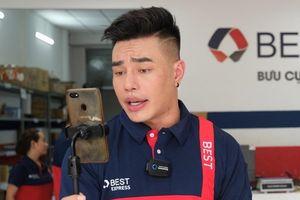 Lê Dương Bảo Lâm diện đồ shipper, đích thân giao hàng cho fan