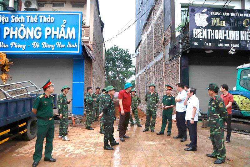 Xử lý thành công quả bom tại TP Vĩnh Yên