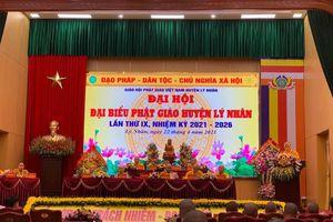 Thượng tọa Thích Thiện Hưởng tiếp tục làm Trưởng ban Trị sự Phật giáo huyện Lý Nhân