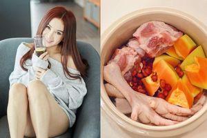 Diễn viên Trung Quốc chỉ cách nấu canh để đẹp da