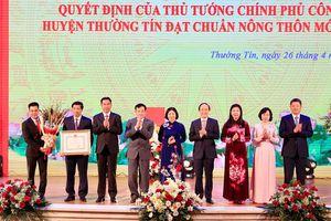 Huyện Thường Tín đón nhận danh hiệu đạt chuẩn Nông thôn mới