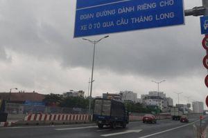 Mở rào chắn trên đường VĐ3 đoạn từ Mai Dịch đến cầu Thăng Long