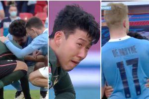 'Niềm tự hào châu Á' Son Heung Min khóc nức nở sau thất bại ở chung kết Cúp Liên đoàn Anh