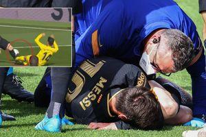 Messi suýt gãy chân sau pha vào bóng rợn người của đối thủ