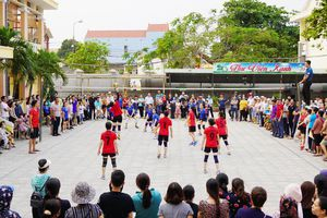 53 đội bóng tham gia giải bóng chuyền nữ ngành GD-ĐT Đồng Hới