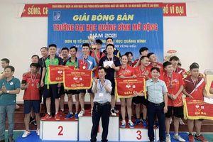 Giải bóng bàn Trường đại học Quảng Bình mở rộng năm 2021